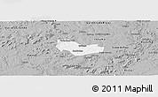 Gray Panoramic Map of Ipiranga Piaui