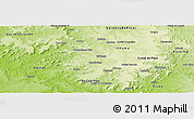 Physical Panoramic Map of Ipiranga Piaui