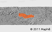 Political Panoramic Map of Ipiranga Piaui, desaturated