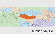 Political Panoramic Map of Ipiranga Piaui, lighten