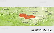Political Panoramic Map of Ipiranga Piaui, physical outside