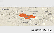 Political Panoramic Map of Ipiranga Piaui, shaded relief outside