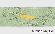 Savanna Style Panoramic Map of Ipiranga Piaui