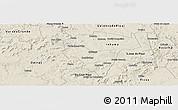 Shaded Relief Panoramic Map of Ipiranga Piaui