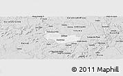 Silver Style Panoramic Map of Ipiranga Piaui