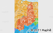 Political Shades Map of Piaui