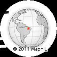 Outline Map of Piaui