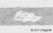 Gray Panoramic Map of Picos