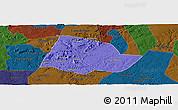Political Panoramic Map of Picos, darken