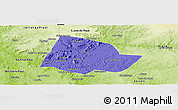 Political Panoramic Map of Picos, physical outside