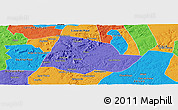 Political Panoramic Map of Picos