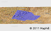Political Panoramic Map of Picos, satellite outside