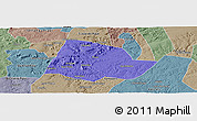 Political Panoramic Map of Picos, semi-desaturated