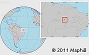 Gray Location Map of S.Antonio Lisboa