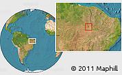 Satellite Location Map of S.Antonio Lisboa