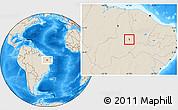 Shaded Relief Location Map of S.Antonio Lisboa