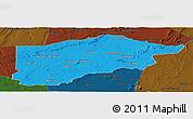 Political Panoramic Map of S.Raimundo Nonat, darken