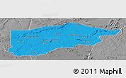Political Panoramic Map of S.Raimundo Nonat, desaturated