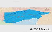Political Panoramic Map of S.Raimundo Nonat, lighten