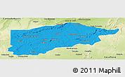 Political Panoramic Map of S.Raimundo Nonat, physical outside