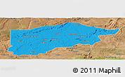 Political Panoramic Map of S.Raimundo Nonat, satellite outside