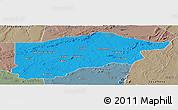 Political Panoramic Map of S.Raimundo Nonat, semi-desaturated