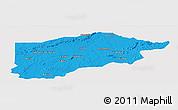 Political Panoramic Map of S.Raimundo Nonat, single color outside