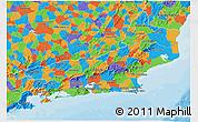 Political 3D Map of Rio de Janeiro
