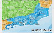 Political Shades 3D Map of Rio de Janeiro