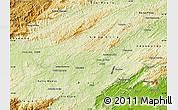Physical Map of Barra do Pirai