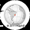 Outline Map of Barra Do Pirai