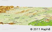 Physical Panoramic Map of Barra do Pirai