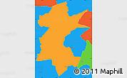 Political Simple Map of Barra Mansa