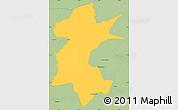 Savanna Style Simple Map of Barra Mansa