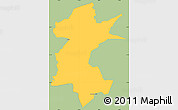 Savanna Style Simple Map of Barra Mansa, single color outside