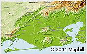Physical 3D Map of Duque de Caxias