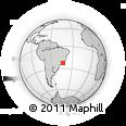 Outline Map of Duque De Caxias