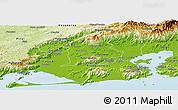 Physical Panoramic Map of Duque de Caxias