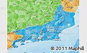 Political Shades Map of Rio de Janeiro