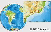 Physical Location Map of Paraiba do Sul