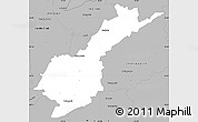 Gray Simple Map of Petropolis
