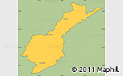 Savanna Style Simple Map of Petropolis, cropped outside