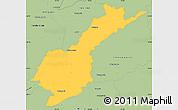 Savanna Style Simple Map of Petropolis