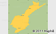 Savanna Style Simple Map of Petropolis, single color outside