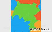 Political Simple Map of Pirai