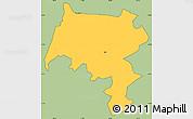 Savanna Style Simple Map of Pirai, cropped outside