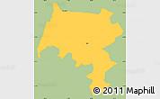 Savanna Style Simple Map of Pirai, single color outside