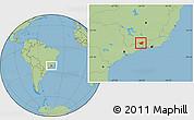 Savanna Style Location Map of Resende