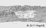 Gray Panoramic Map of Resende