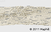 Shaded Relief Panoramic Map of Resende